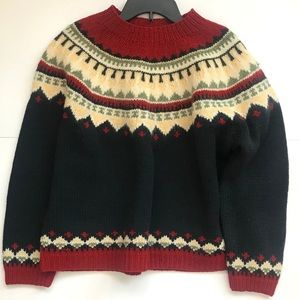 Vintage Eddie Bauer women's 100% wool sweater L